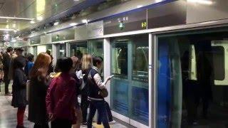 【韓国】 釜山都市鉄道(地下鉄)4号線 美南駅  부산 도시철도 4호선  미남역 Busan Metro Line 4 Minam Station (2016.5)