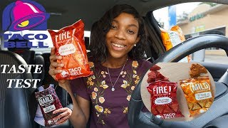 TRYING TACO BELLS NEW SPICY TORTILLA CHIPS |  Taste Test