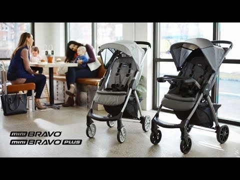 Midnight Chicco Mini Bravo Plus Travel Stroller System