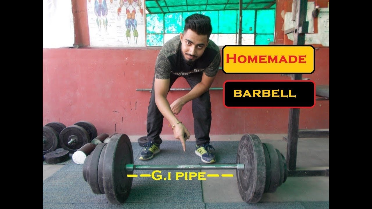How To Make Barbell At Home ह द म Youtube