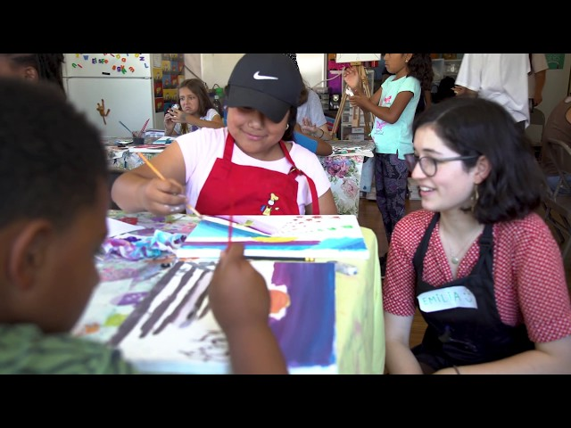 Teen Brings Art Classes to Children in Homeless Shelters and Underserved Communities