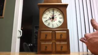 Seth Thomas Spice Box-b Shelf Or Wall Clock