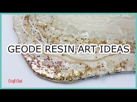 Geode Resin Art Ideas | Sparkle, Glitter, Gems, Fireglass!