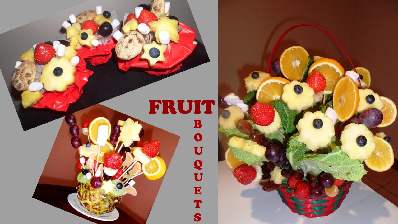 D.I.Y. Edible Fruit Bouquets and Mini Fruit and Chocolate Arrangements - YouTube