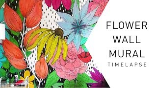 Flower Wall Mural Timelapse