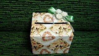 Мастер класс по изготовлению коробочки для дарения