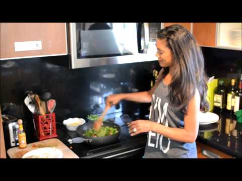Healthy Cooking Quinoa Hash Energy Breakfast with Fitness Kitten Taylor Walker by Tony Thomas Sports