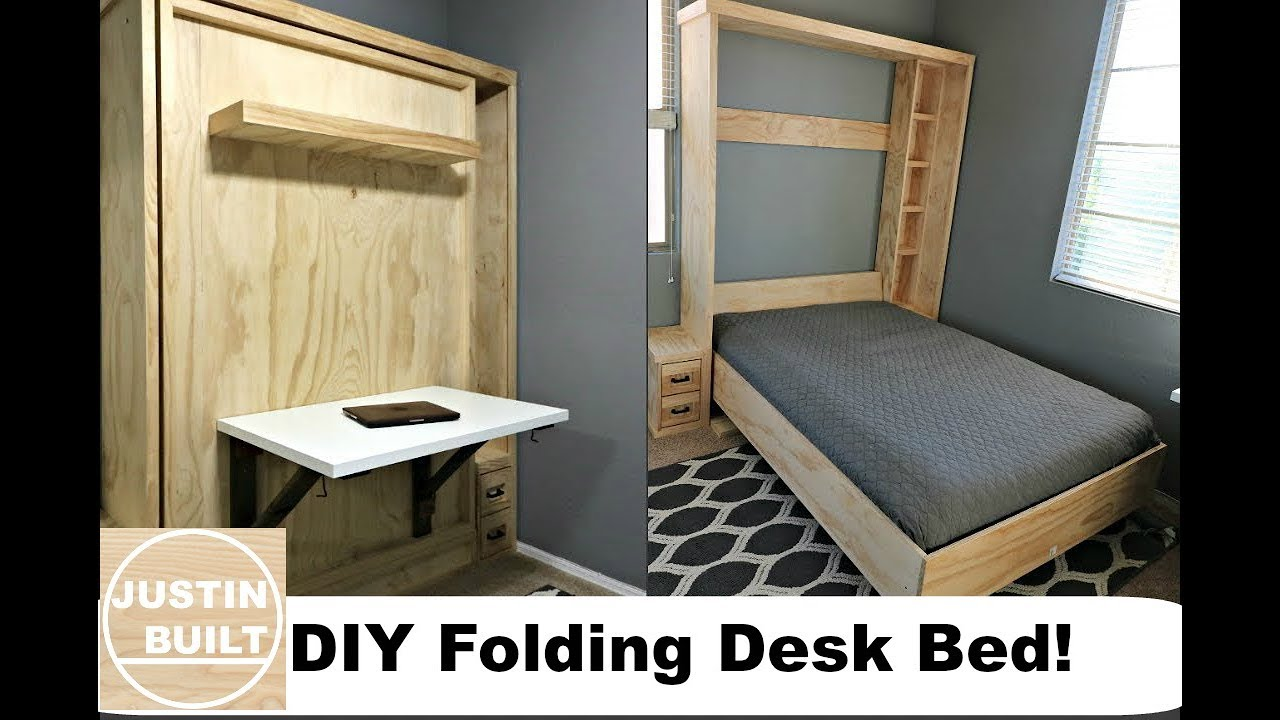 DIY $20 Folding Desk for Murphy Bed!   YouTube