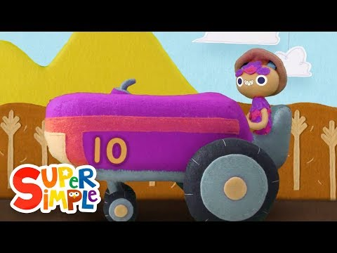 10 Little Tractors  Kids Songs  Super Simple Songs