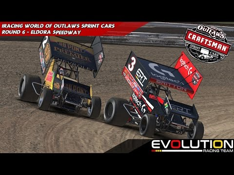 iRacing - World Of Outlaws Sprint Car Series - 410 Winged Sprints Week 8 @ Volusia Speedway Park