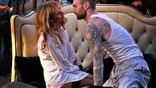 Adam Levine Behind the Scenes with Anne Maroon 5 Never Gonna Leave this Bed - Hollywood Tourz