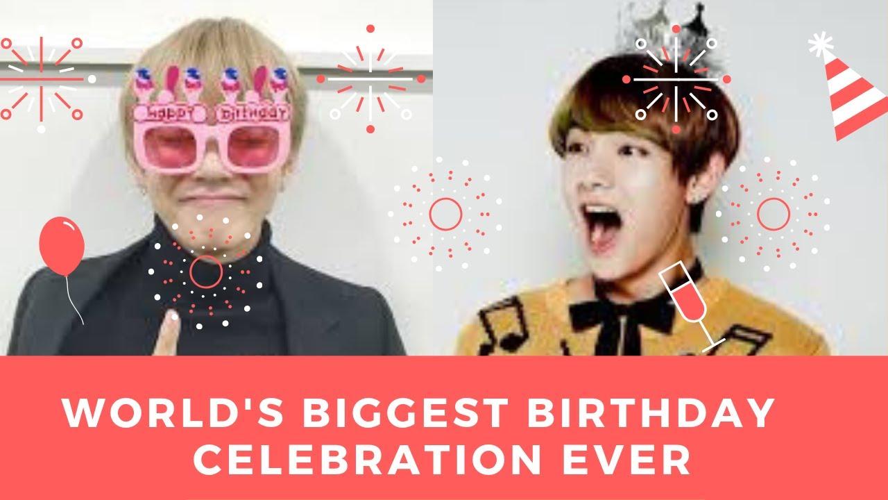 WORLD'S BIGGEST BIRTHDAY CELEBRATION - BTS V  Projects Compilation  Video 
