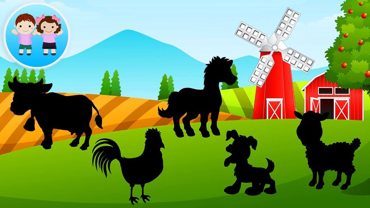 La Ferma - Ghiceste Silueta si Sunetele de  Animale si Pasari Domestice