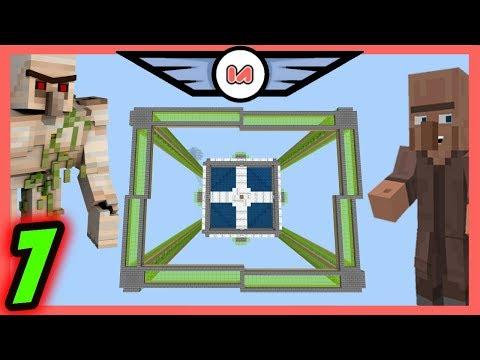 Iron Farm Cactus Towers [7] Minecraft Bedrock Infiniverse Air