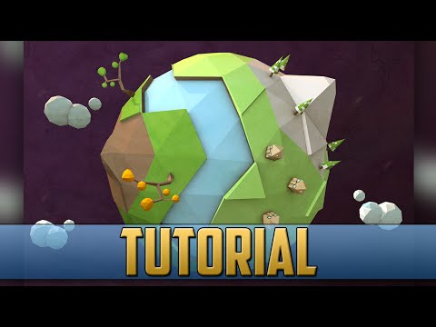 Low Poly Planet Earth Tutorial Cinema 4D