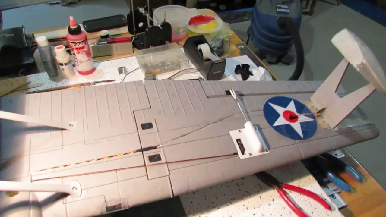Dynam PBY Catalina Float retract modification and maiden flight