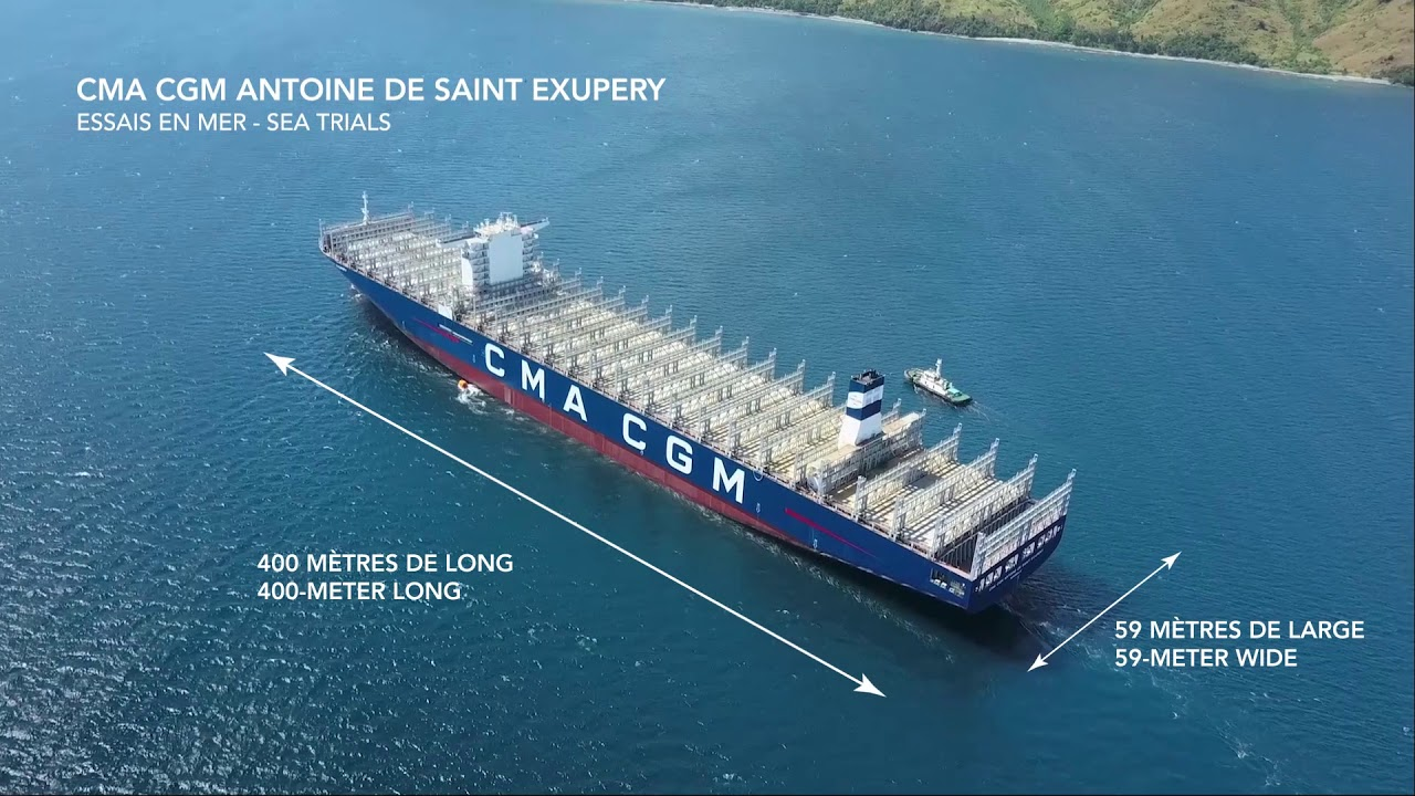 our new flagship cma cgm antoine de saint exupery youtube