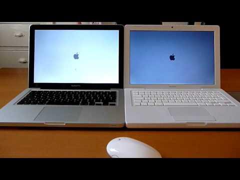 2009 Apple Macbook Pro Unibody Vs 2009 Apple Macbook White