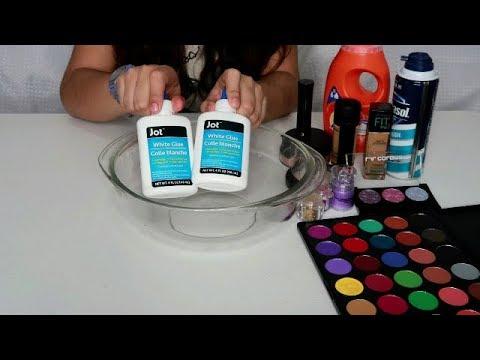 Slime Con Maquillaje Mezcla de slime Satisfactorio | DIY Makeup Slime