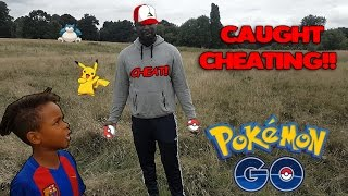 Pokemon GO | The Dad Is A CHEAT!! | Tekkerz Kid