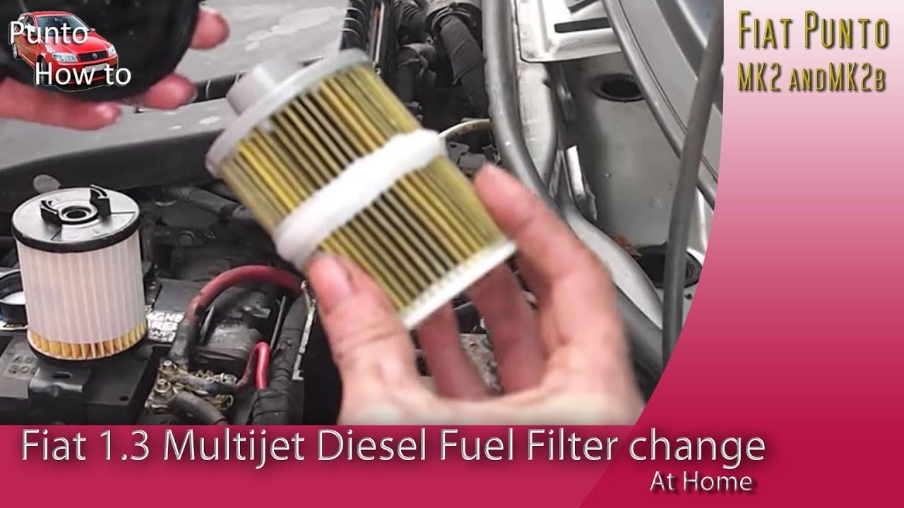 hight resolution of fiat multijet fuel filter replacement youtubefiat multijet fuel filter replacement