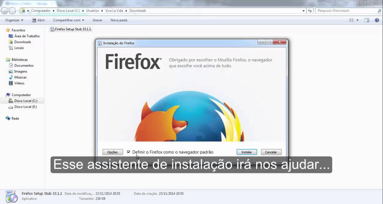 Como Baixar e Instalar o Mozilla Firefox no windows 7 ...
