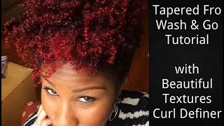 tutorial tapered fro wash go w beautiful textures curl definer short natural hair