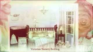 Victorian Nursery Bedding: Champagne & Ivory Victoria Baby Bedding 9 pc Crib Set