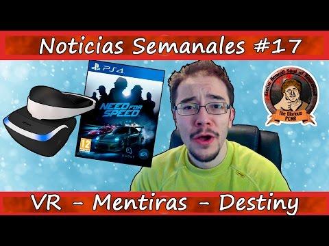 Noticias semanales #17 - Rumores - Noticias falsas - Realidad Virtual - Destiny - SW: Battlefront