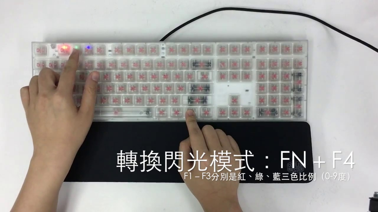 8a7f3ed8ae4 Masterkey Pro L Crystal-RGB Mode - YouTube