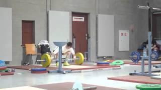 2013 worlds - Lu Xiaojun and Liao Hui training