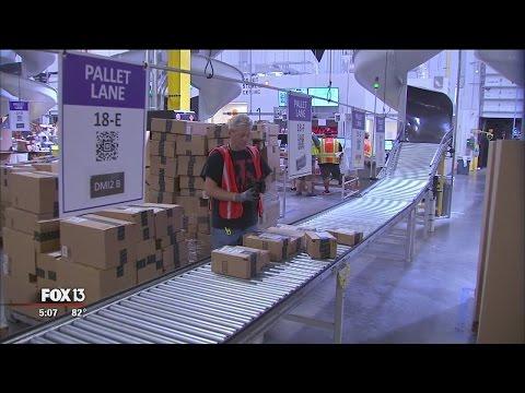Inside an Amazon fulfillment center