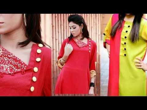 837efb951 Beautiful button neck with embroidery designs for girls and ladies(for  daily and party wear suits)