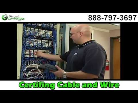 How to Certify Test Cat5e, Cat6 and Cat6A Cable