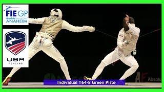 FIE Grand Prix Anaheim USA Piste Green T64-T08 thumbnail