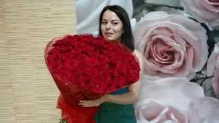 Букет из 51 красной  розы купить в Минске(, 2015-08-18T11:28:21.000Z)