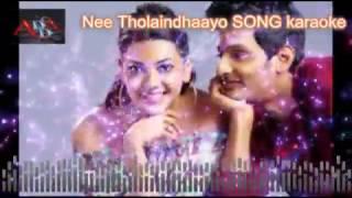 Nee Tholaindhaayo song karaoke