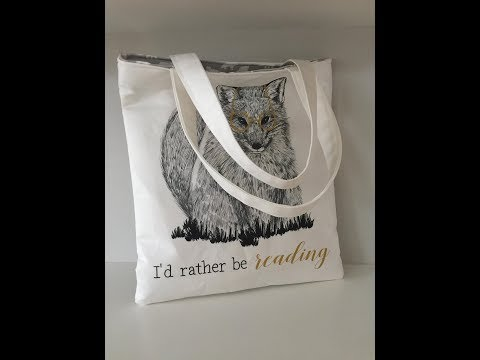 How to sew a library tote bag