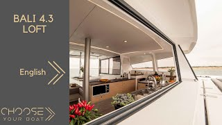 BALI 4.3 Loft  by Bali Catamarans - Guided Tour Video (in English)