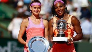 Serena Williams vs Lucie Safarova CEREMONY Roland Garros 2015