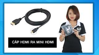 Dây cáp HDMI ra mini HDMI cho HDTV đầu male 1.5 mét giá rẻ