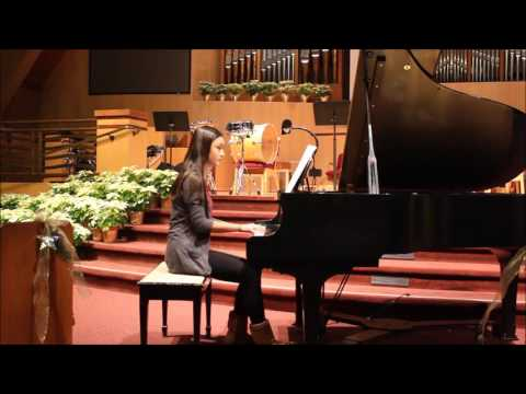 Emily playing Watermark by Enya for her piano recital