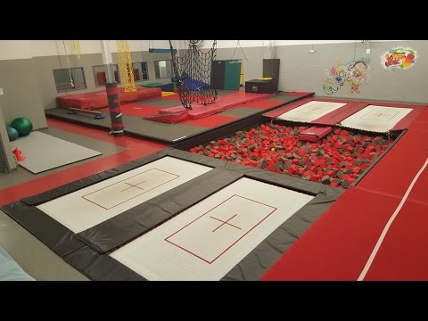 insane trampoline gym youtube. Black Bedroom Furniture Sets. Home Design Ideas