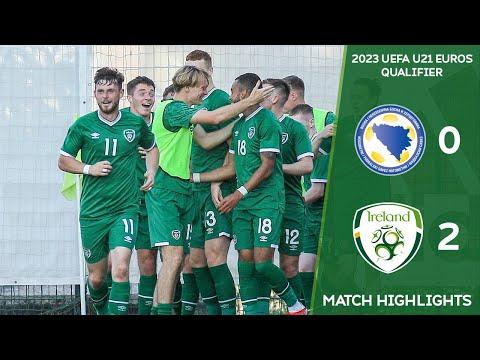 HIGHLIGHTS | Bosnia & Herzegovina U21 0-2 Ireland U21 - 2023 UEFA European Under-21 Championship
