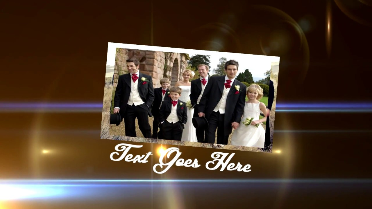 sony vegas pro - custom 3d wedding template - youtube, Presentation templates
