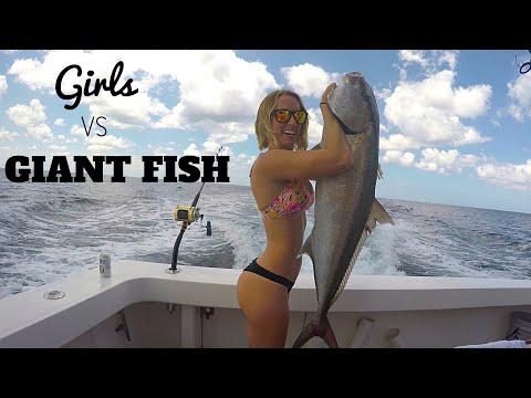 Girls Vs Deep Sea GIANTS!! Amberjack Fishing | Miss Annie In Palm Beach
