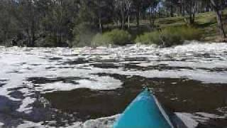 Blackwood River Whitewater Kayaking in Brown Water