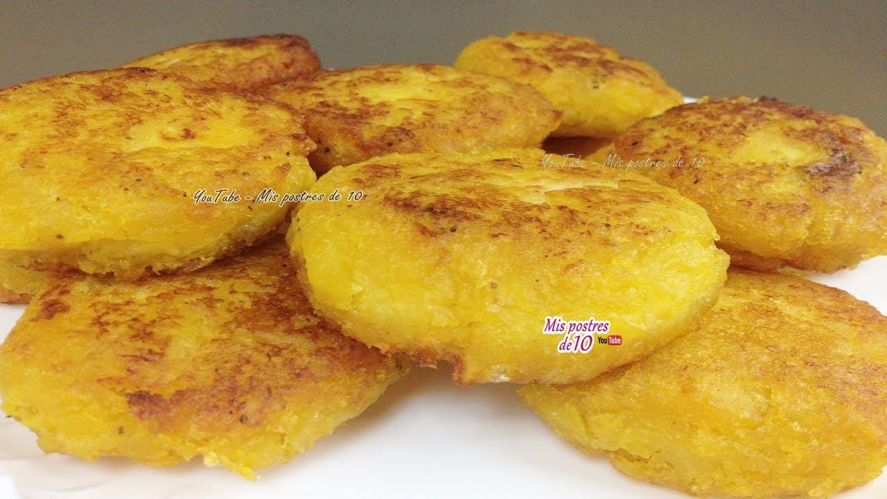 Tortitas De Platano Macho Dulces Con Queso Youtube