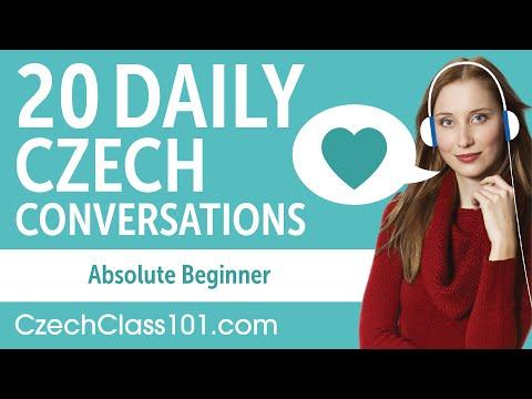 20 Daily Czech Conversations - Czech Practice for Absolute Beginners