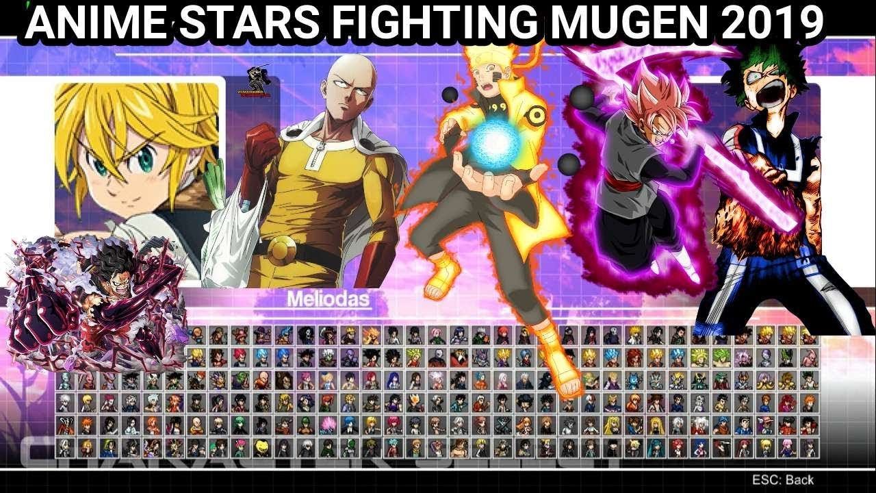 ANIME STARS FIGHTING MUGEN 2019